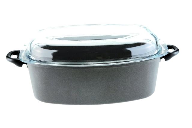 Titanový pekáč se skleněným víkem 40x24 cm hloubka 13 cm Titan Durit Resist