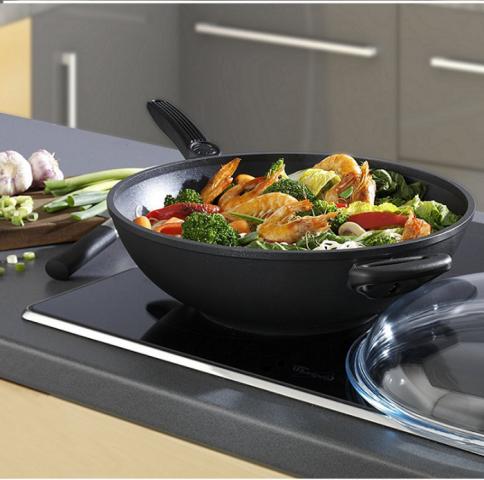 Titanový wok 32 cm s poklicí Titanium 2000 non stick Light