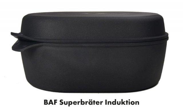 Titanový superpekáč s grilovacím víkem 40x28 cm hloubka 14 cm BAF Gigant new line Indukce