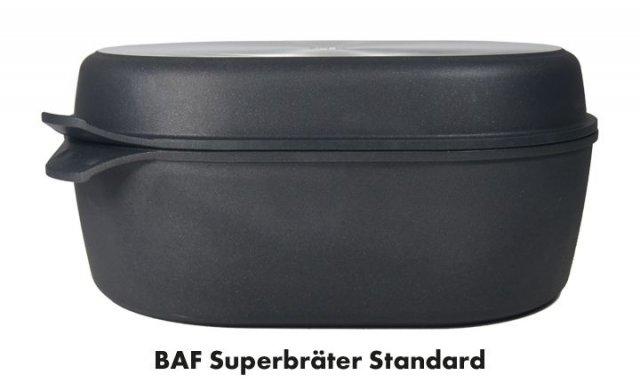 Titanový superpekáč s grilovacím víkem 40x28 cm hloubka 14 cm BAF Gigant new line