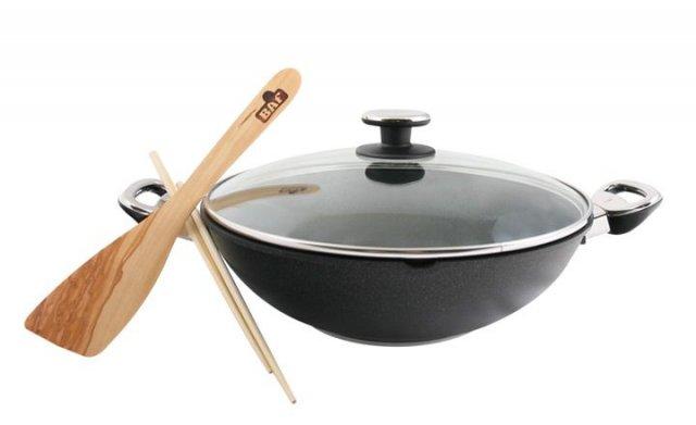 Titanový wok 32 cm s poklicí BAF Gigant new line